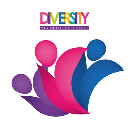 racial diversity: Diversity concept with icon design, vector illustration 10 eps graphic.