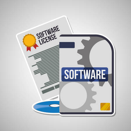 interface scheme: Development and software concept with icon design, vector illustration 10 eps graphic.