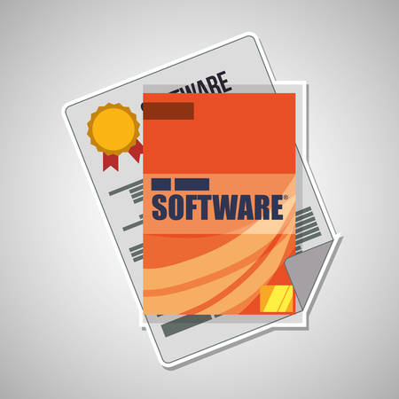 programm: Development and software concept with icon design, vector illustration 10 eps graphic.
