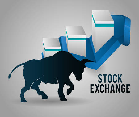 Stock exchange concept with icon design, vector illustration 10 eps graphic.