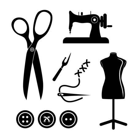 krawiec sklep z ikoną koncepcji projektu, ilustracji grafiki wektorowej EPS 10.