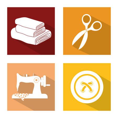Schneider-Shop-Konzept mit Icon-Design, Vektor-Illustration 10 EPS-Grafik.