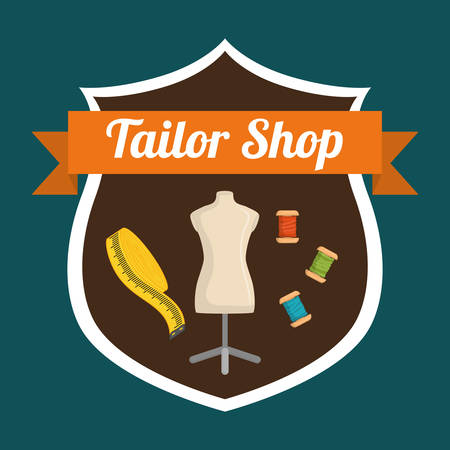 tailored: tailor shop concept with icon design, vector illustration 10 eps graphic.