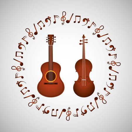 Musik-Konzept mit Icon-Design, Vektor-Illustration 10 EPS-Grafik.