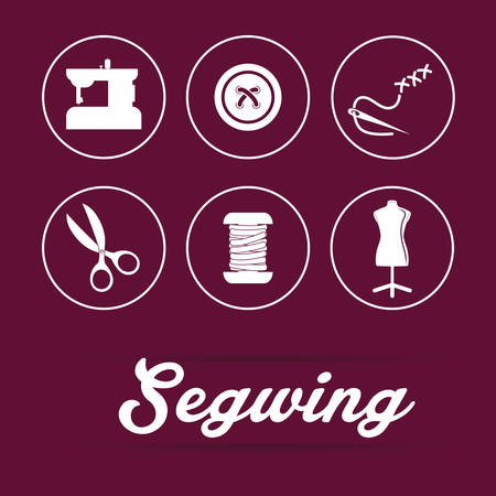 fabrication: Sewing concept with icon design, vector illustration 10 eps graphic
