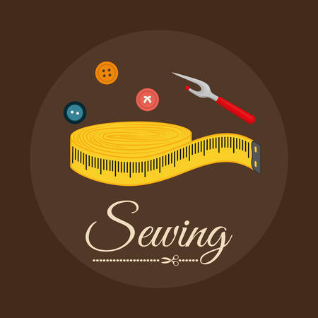tailored: Sewing concept with icon design, vector illustration 10 eps graphic