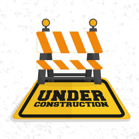 under construction symbol: Under construction concept with icon design, vector illustration 10 eps graphic.