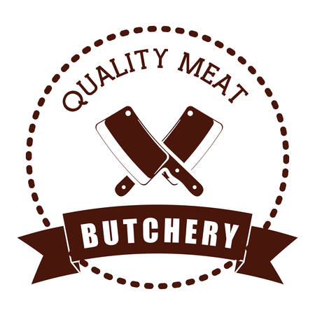 butchery: Butchery or butcher theme design, vector illustration graphic Illustration