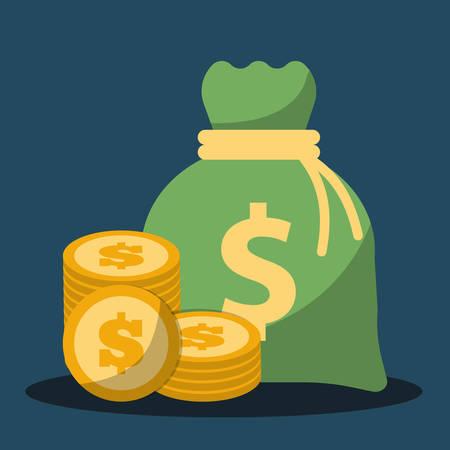 pieniądze: Pieniądze koncepcji oszczędności z projektowaniem Ikona, Ilustracja wektora 10 eps graficznego. Ilustracja