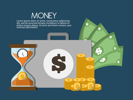 Money savings concept with icon design, vector illustration 10 eps graphic.