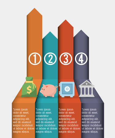 strongbox: Money concept with infographic  icon design, vector illustration 10 eps graphic. Illustration