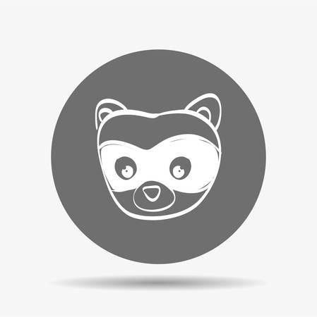 mofeta: concepto animal con el diseño de iconos de dibujos animados, ilustración vectorial eps 10 gráfico.