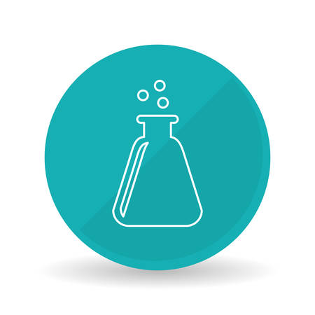 a solution tube: Science concept with icon design, vector illustration 10 eps graphic. Illustration