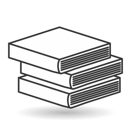 Bücher Icon Design, Vektor-Illustration 10 EPS-Grafik.