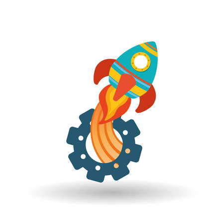ufo: rocket concept with icon design, vector illustration 10 eps graphic.