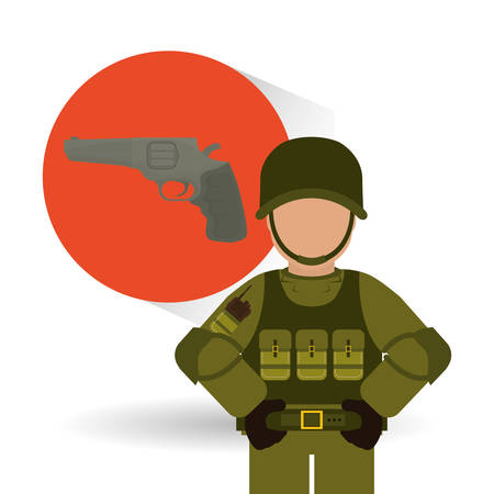 british army: Military  icon concept with icon design, vector illustration 10 eps graphic. Illustration