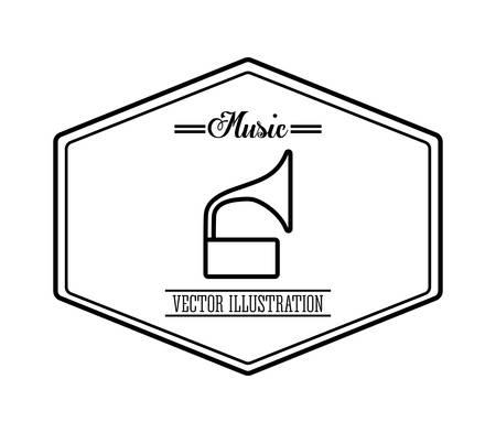 gramaphone: Music concept with icon design Illustration