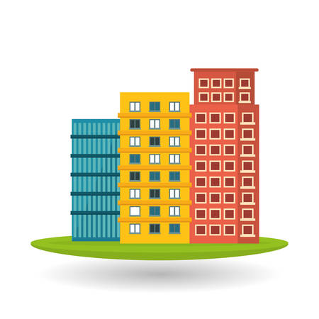 building exterior: city concept with icon design, vector illustration 10 eps graphic.
