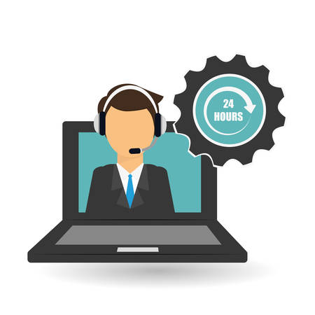image consultant: call center concept with technical service icon design, vector illustration 10 eps graphic.