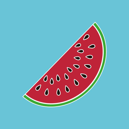 watermelon: fruit concept with icon design, vector illustration 10 eps graphic.