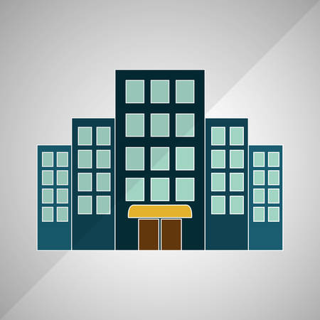 reception hotel: hotel concept with icon design, vector illustration 10 eps graphic.