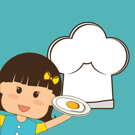 children eating: Menu kids concept with icon design, vector illustration 10 eps graphic. Illustration