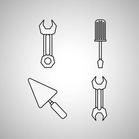 rebuilding: tool concept with icon design, vector illustration 10 eps graphic.