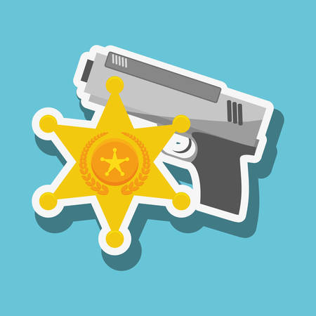 civil rights: Police concept with icon design, vector illustration 10 eps graphic.
