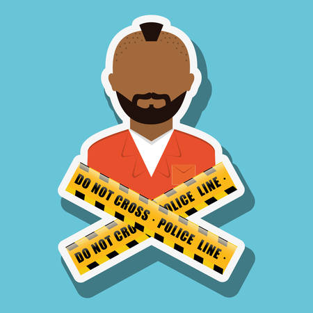 civil rights: criminal concept with icon design, vector illustration 10 eps graphic.