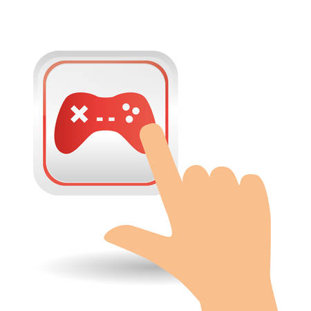 obsession: video game concept with icon design, vector illustration 10 eps graphic.