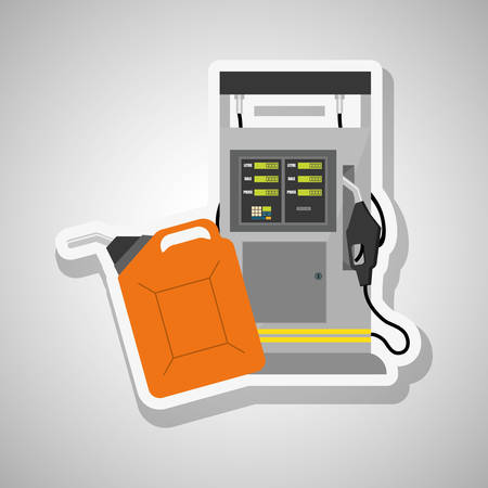 polluting: Oil industry icon concept with icon design, vector illustration 10 eps graphic. Illustration