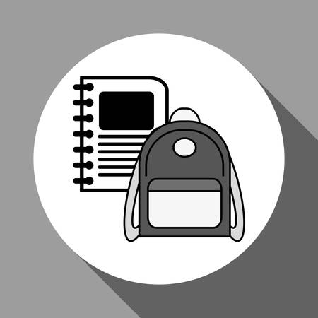 interacting: School concept with icon design, vector illustration 10 eps graphic.