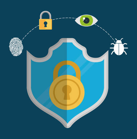 menace: Security concept with icon design, vector illustration 10 eps graphic.
