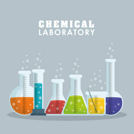 a solution tube: Laboratory concept with chemical icon design, vector illustration 10 eps graphic. Illustration