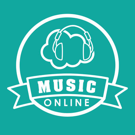 nternet: Music concept with icon design, vector illustration 10 eps graphic. Illustration