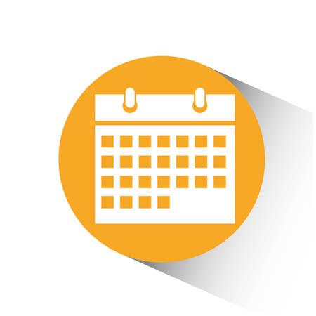 ring binder: Calendar concept with icon design, vector illustration 10 eps graphic. Illustration