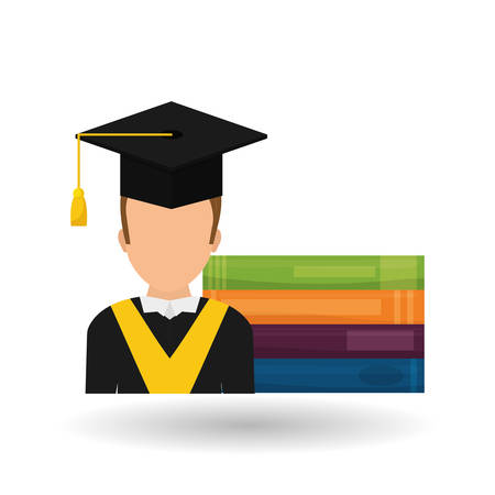 commencement: Online training concept with icon design, vector illustration 10 eps graphic.