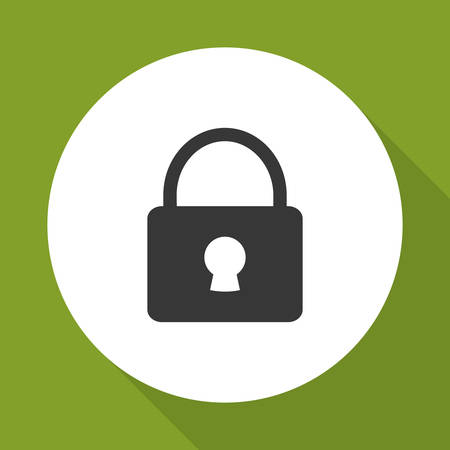 fatal: padlock concept with icon design, vector illustration 10 eps graphic.