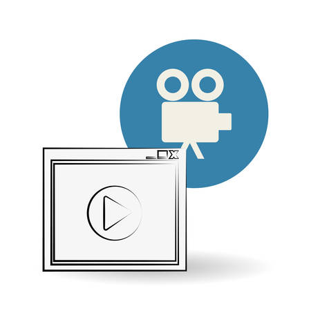 cinema viewing: Movie concept with icon design, vector illustration 10 eps graphic.