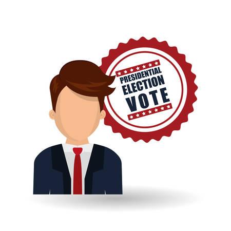 vote concept with icon design, vector illustration 10 eps graphic. Illustration