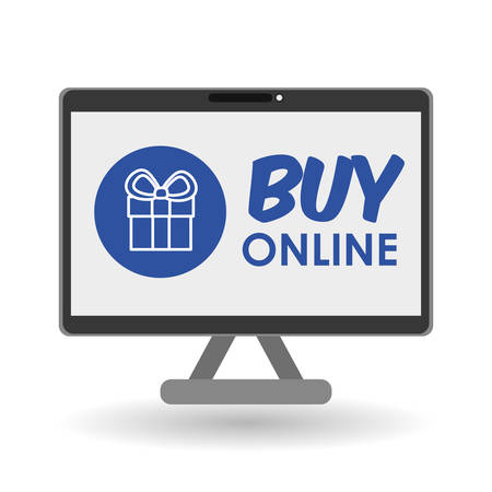 eps 10: Buy concept with online icon design, vector illustration 10 eps graphic.