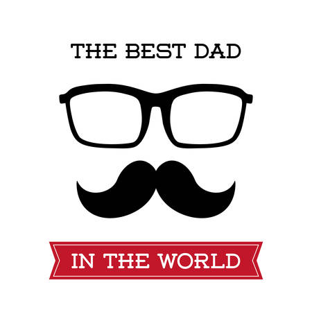 eps 10: fathers day concept with icon design, vector illustration 10 eps graphic.