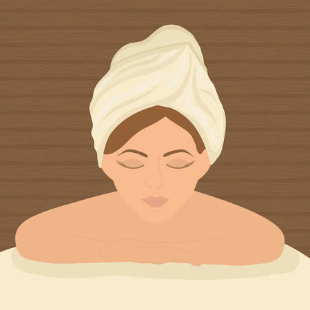 pampering: spa center concept with icon design, vector illustration 10 eps graphic. Illustration