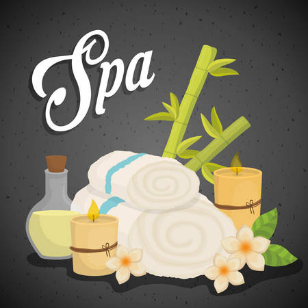 eps 10: spa center concept with icon design, vector illustration 10 eps graphic. Illustration