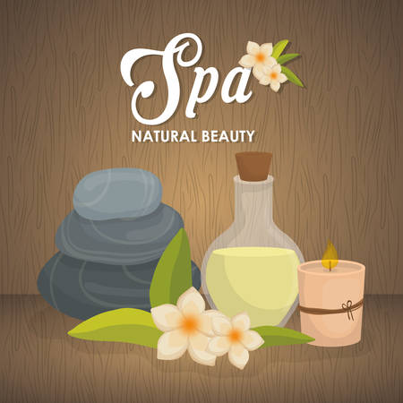 flower bath: spa center concept with icon design, vector illustration 10 eps graphic. Illustration