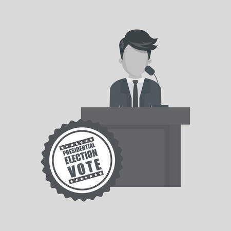 conscientious: vote concept with icon design, vector illustration 10 eps graphic. Illustration