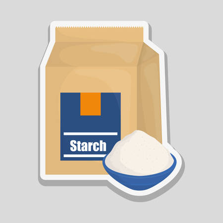 starch: bakery concept with icon design, vector illustration 10 eps graphic.