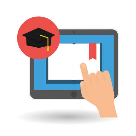 commencement: graduation  concept with icon design, vector illustration 10 eps graphic. Illustration