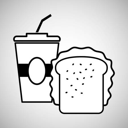 toasted sandwich: fast food concept with icon design, vector illustration 10 eps graphic.