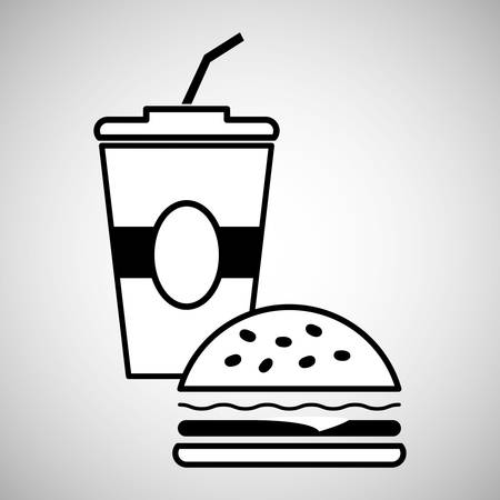 carbonated beverage: fast food concept with icon design, vector illustration 10 eps graphic.